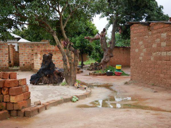Hinterhof/Küche im Armenviertel